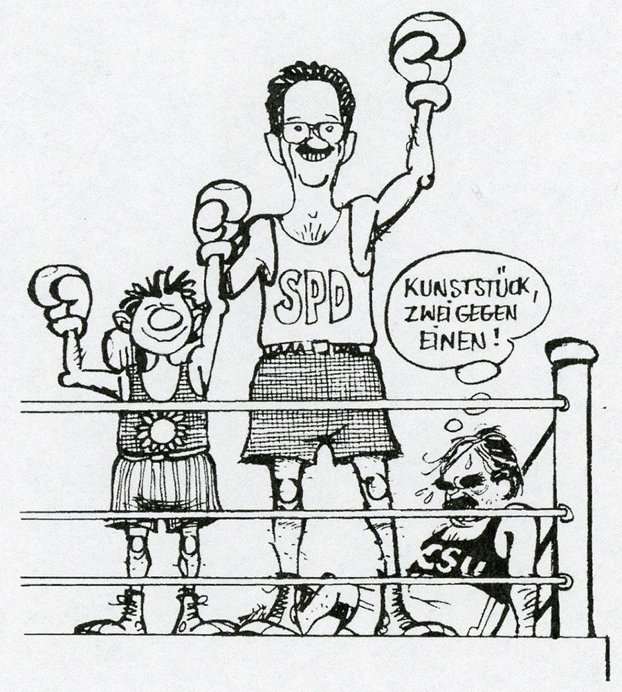 Karikaturen christian ude for Dieter hanitzsch